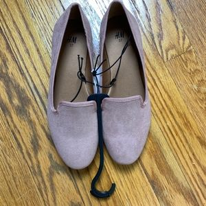 H&M Beige/Rose Flat Loafers Size 37